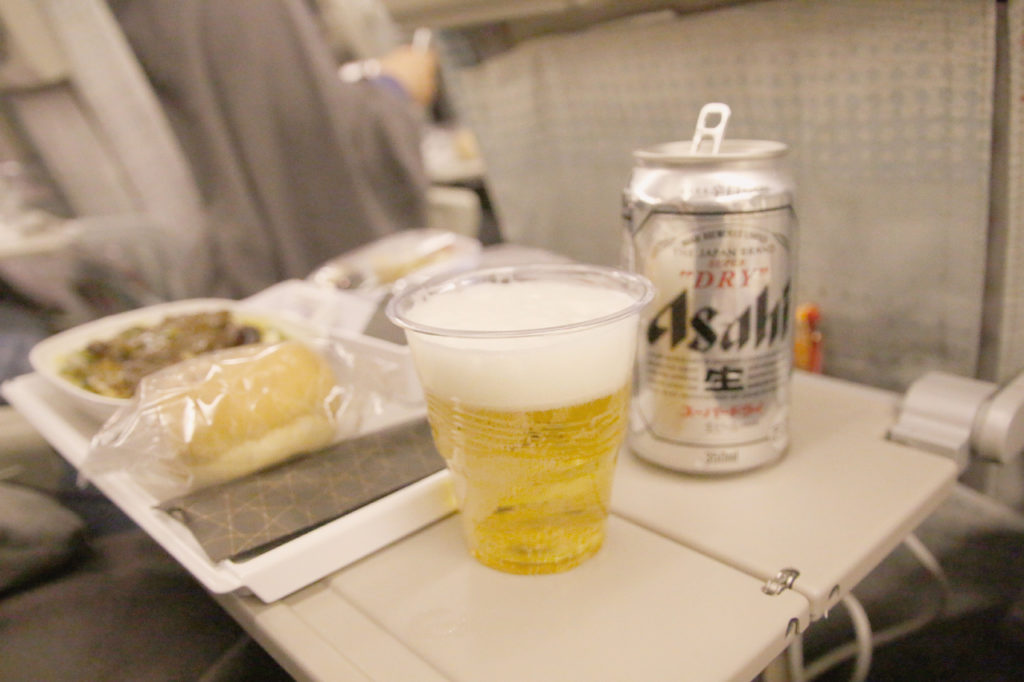 エミレーツ航空のお酒、ビールは2種類