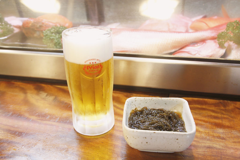 あけぼのビールもずく酢
