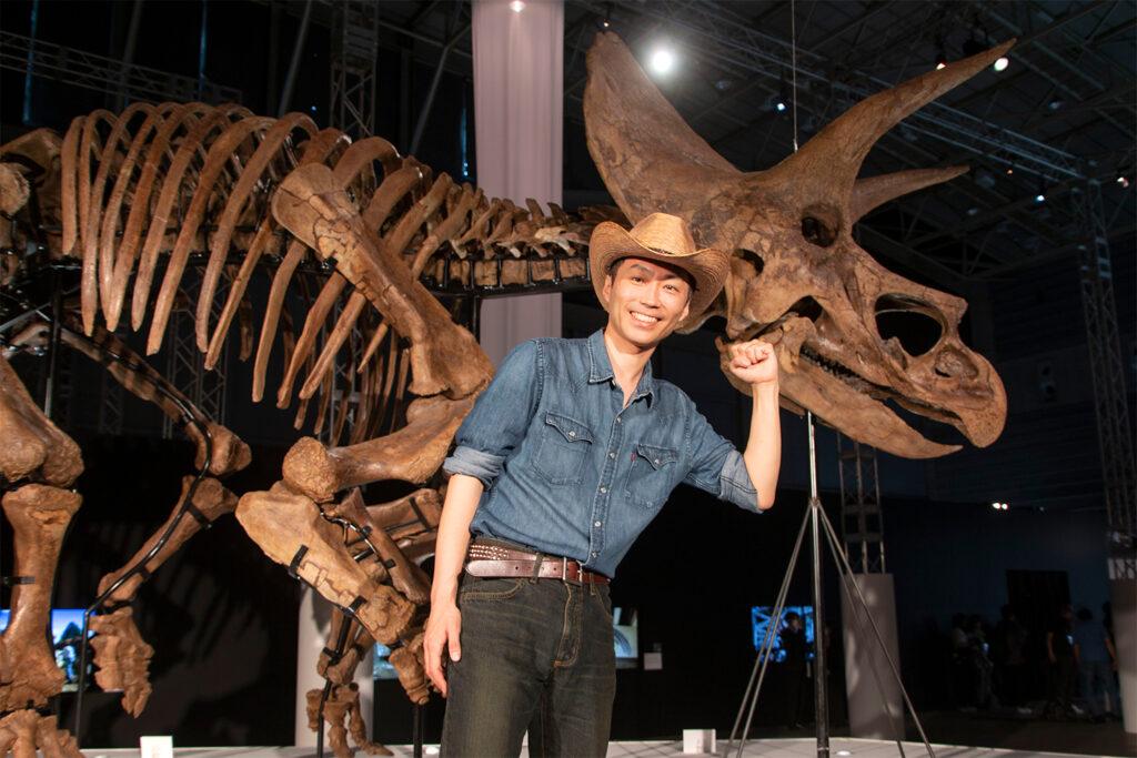 「DinoScience 恐竜科学博」を監修した恐竜くん。